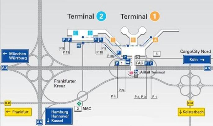 Схему аэропорта франкфурт-на-майне на русском языке
